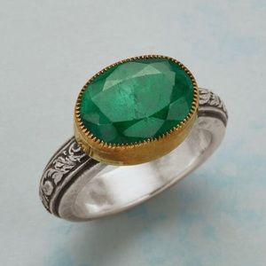 Sundance emerald ring handcrafted by Chris Duncan